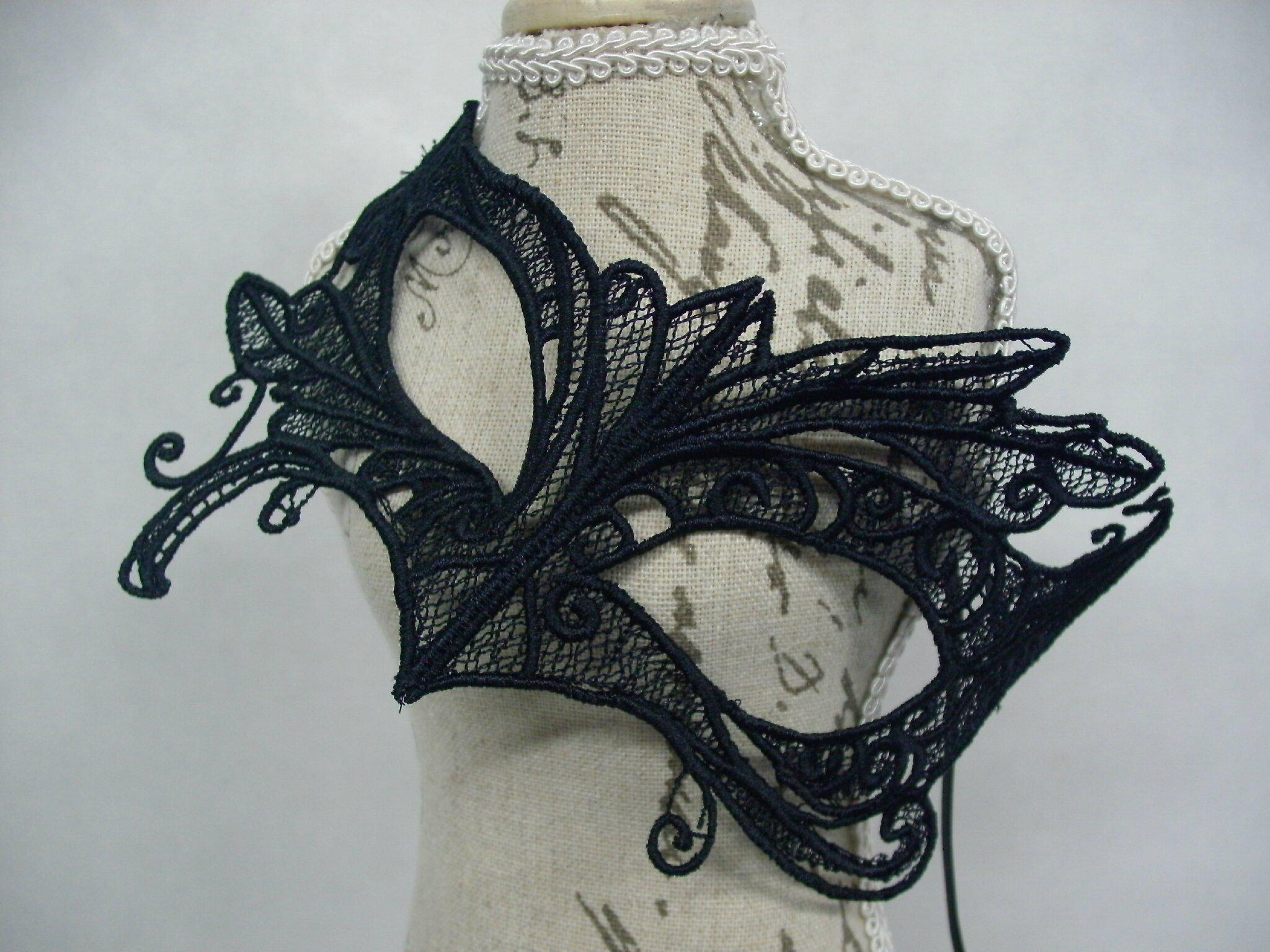 masque vénitien dentelle noire par amd a coudre (4)