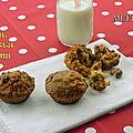Muffins santé à l'avoine, aux carottes et à la banane, sans gluten et sans lactose
