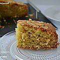 Gâteau au beurre et aux <b>amandes</b>