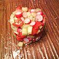 Tartare de tomate, concombre et radis au pavot