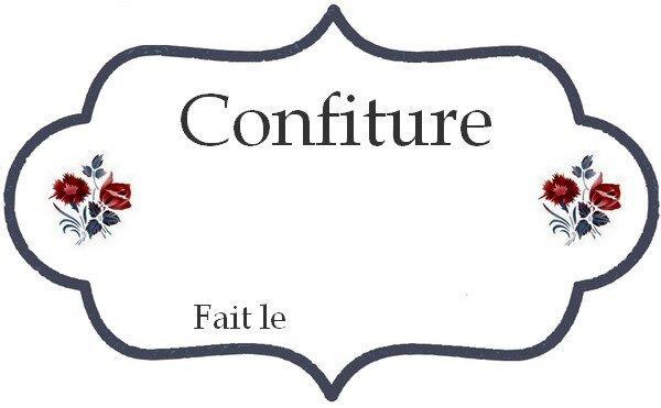 Relative ETIQUETTE POUR CONFITURE MAISON - UN PETIT TOUR EN BRIERE EU67