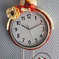 Horloge murale poule