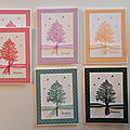CARTES ARBRES <b>STAMPIN</b>'<b>UP</b>