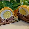 Pâté de Pâques portion <b>à</b> l'oeuf de caille