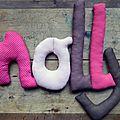 molly,mot en tissu,mot decoratif,cadeau de naissance,decoration chambre d'enfant,cadeau personnalise,cadeau original,poc a poc blog