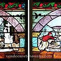 À la boissière-de-montaigu, le vitrail du christ-roi restauré