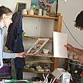 Atelier de poterie partagé avec le peintre et dessinateur laguil -