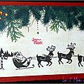 Le traineau du Père <b>Noël</b> ... une <b>carte</b> de <b>Noël</b> traditionnelle !