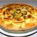 Tarte Courgettes, Pommes et <b>Cheddar</b>