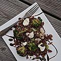 Salade de quinoa rouge brocolis chou fleur