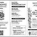 Plaquette Qi-gong recto