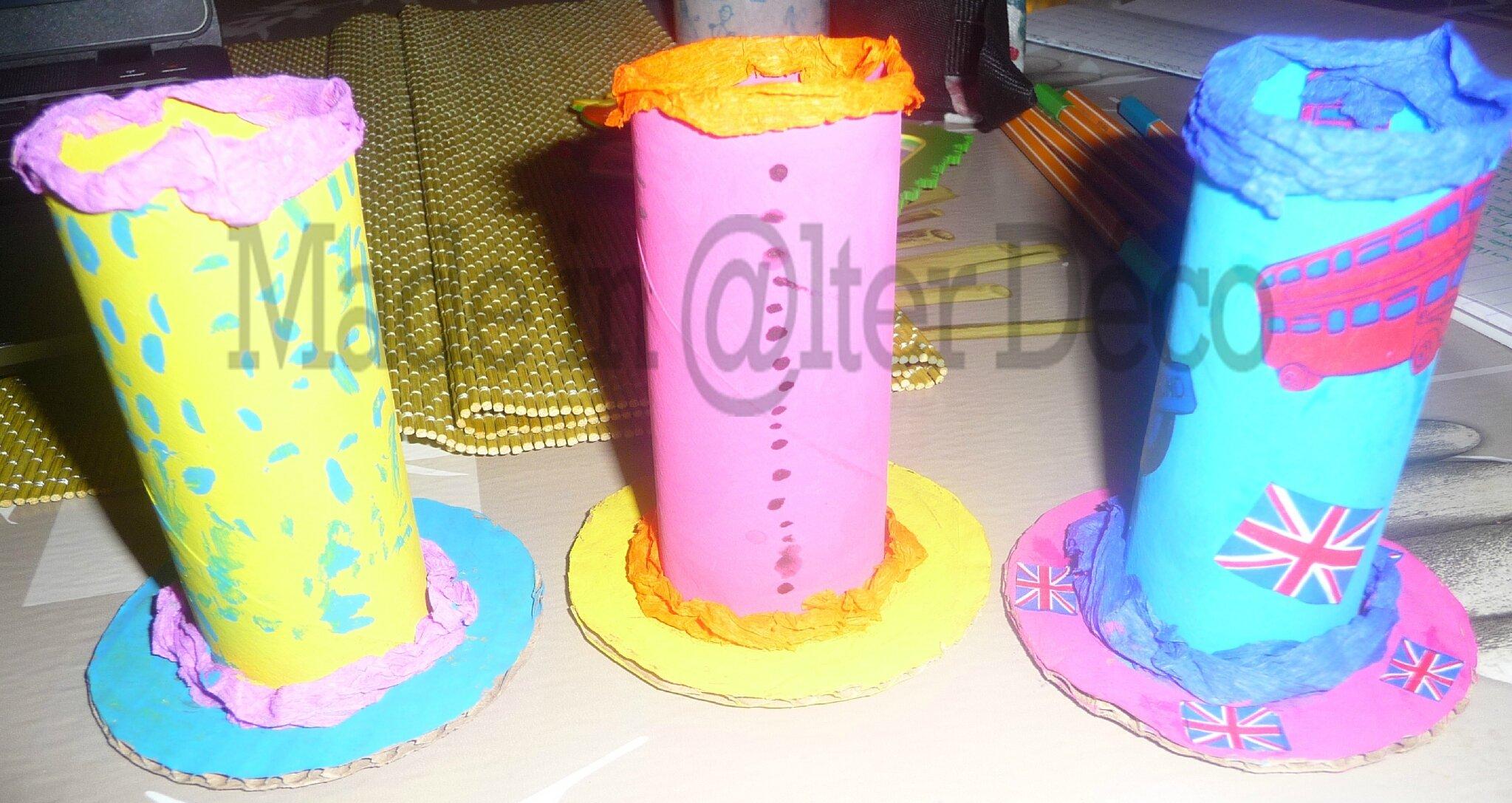 Pots à crayons en carton