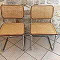 Paire de chaises cesca