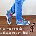 Diy du week-end 5: vidéo/ chaussures aux motifs triangulaires