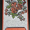 Palette de pétales - carte anniversaire