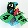 Carte pop-up anniversaire angry birds