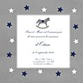 FP cheval à bascule gris tour étoilé bleu foncé et blanc