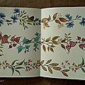 Premier coloriage du livre Jardin secret en double page