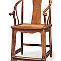 Ahuanghualihorseshoe-back armchair,<b>quanyi</b>, 17th-18th century