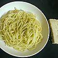 Spaghettis au fromage...cacio e pepe