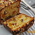 Cake aux fruits confits.