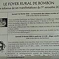 FOYER RURAL DE BOMBON - PROGRAMME JANVIER À JUIN ET <b>CRÈPES</b>