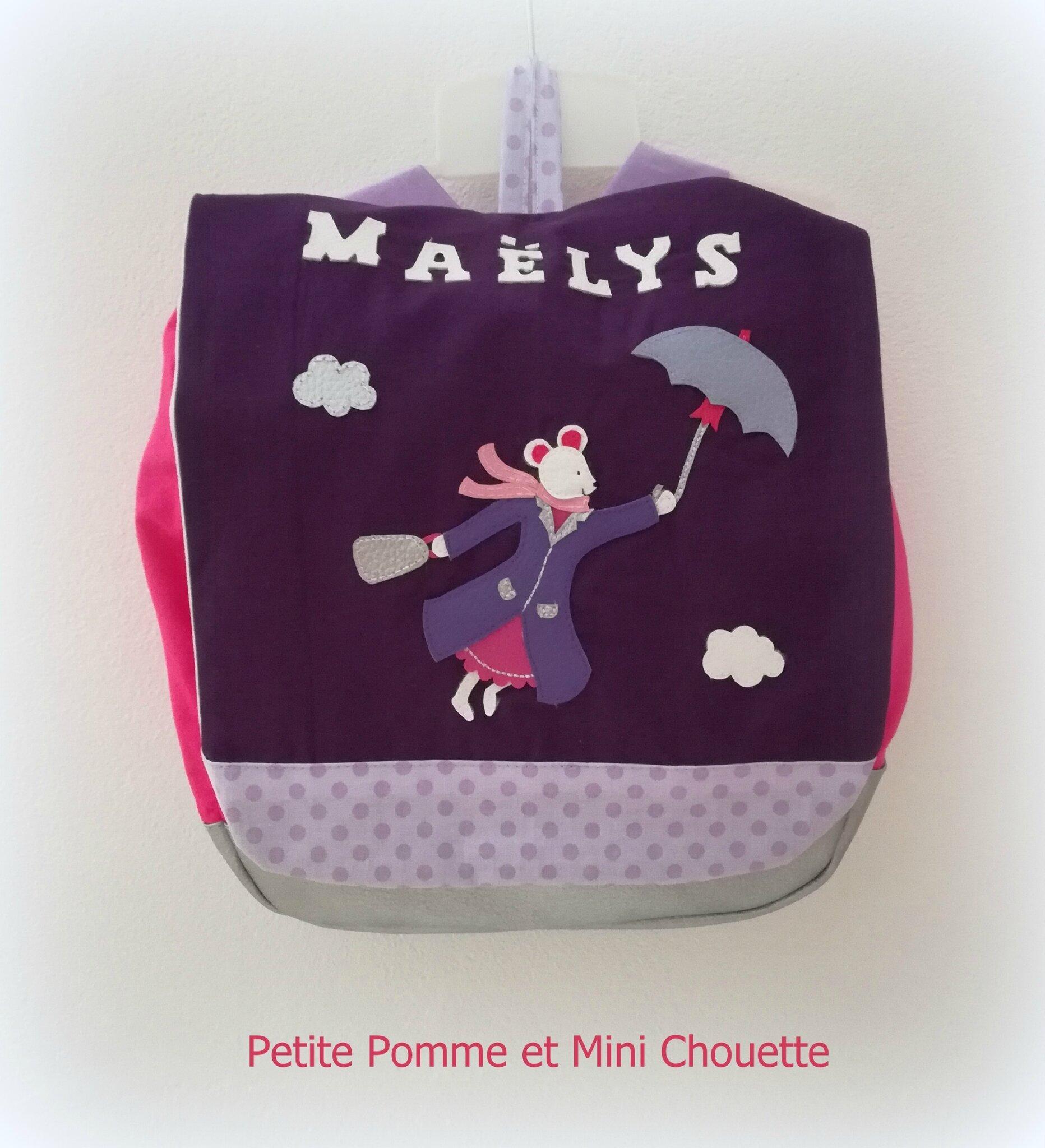 sac à dos personnalisable petite souris