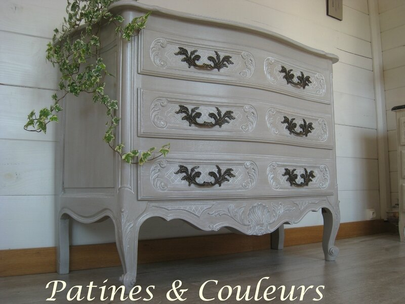 commode r gence patin e taupe patines couleurs. Black Bedroom Furniture Sets. Home Design Ideas