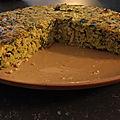 Gâteau poireaux , jambon, céréales