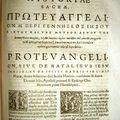 Proto évangile de Jacques - Edition des Apocryphes - XVII° s.
