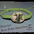 bracelet bois flotté bambou