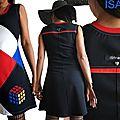 MOD 515B Robe patchwork graphique créateur Arty 70s Magic Cube, un Automne aux influences Seventies : la robe »Magic cube » Made in France