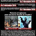 Affiches pour les 6 & 7 décembre 2014 : journées mondiales contre les projets nuisibles et imposés !