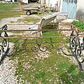 Table en fer forgé plat jardin ou intérieur