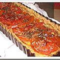Tarte à la tomate avec sa pate a tarte santé