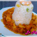 Dôme de riz et sa sauce crevettes