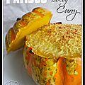 Patidou (courge) au boeuf et au curry...