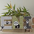 Lettres prénom décorées à poser thème Panda