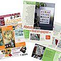 O'perla dans le magazine atelier déco & créations n°31