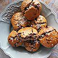 Muffins noix de coco & chocolat noir