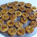 Mignardises tartelettes crème brulée à la lavande