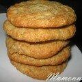 Macarons ou gros cookies à la noix de coco et vanillés