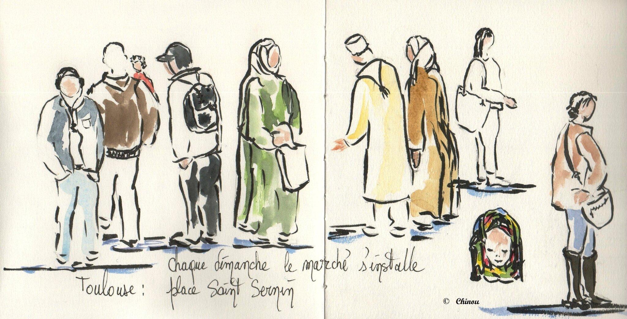 Marché Saint Sernin