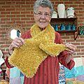Les collectes du tricot solidaire en septembre et octobre 2012 : les écharpes en laine