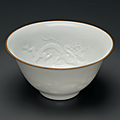 A small molded 'Dragon' bowl, Transitional period, mid-17th century