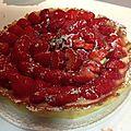 Tarte aux fraises et à la crème mousseline