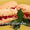 Eclairs aux fraises et à la rhubarbe