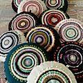 Coussins ronds multicolore