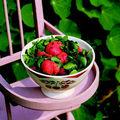 Salade de cresson aux fraises