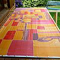 Nouvelle étole peinte sur la soie pongée